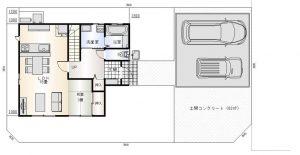 庄内町新築建売住宅A棟平面図1