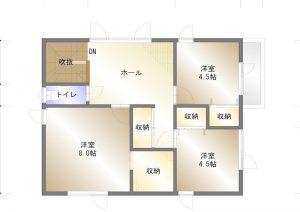 酒田市駅東一丁目新築建売平面図2