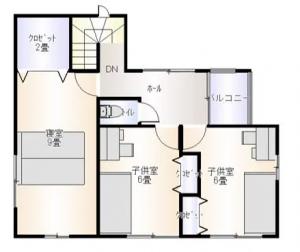 酒田市東泉町建売住宅平面図2