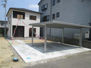 鶴岡市みどり町新築建売住宅カーポート