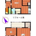 鶴岡市中古住宅戸建てみどり町間取り図